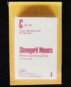 Showgard-Clear-Stamp-Mounts-C-50-31-40-Pieces-New-Old-Stock-m21