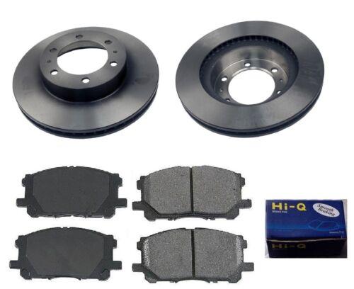 Front Ceramic Brake Pad Set /& Rotor Kit for 2007-2012 Toyota FJ Cruiser