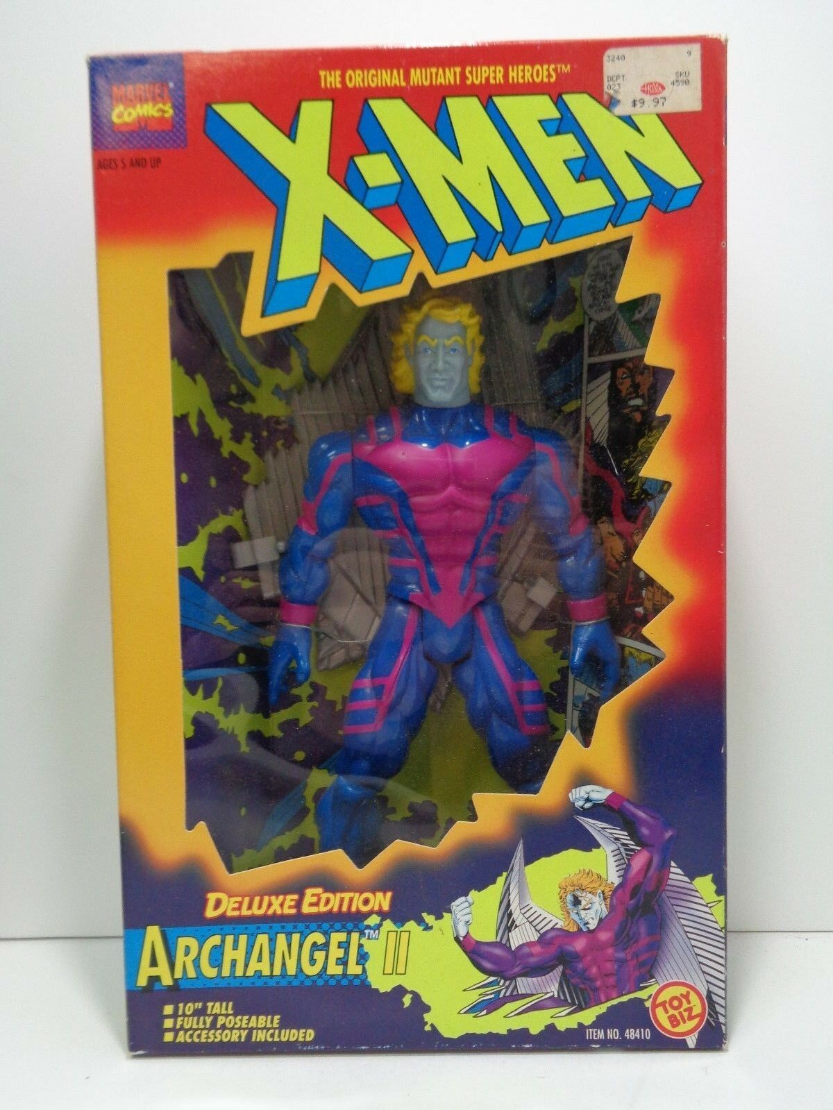 Marvel Comics ARCHANGEL II Deluxe Edition 10 10 10  Tall ToyBiz MIB 1995 771866