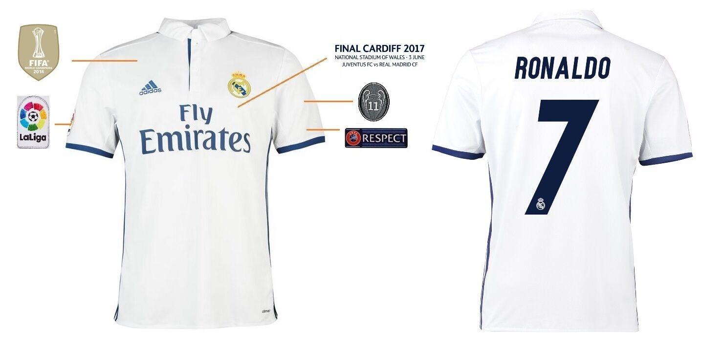Trikot Trikot Trikot Real Madrid Champions League Final Cardiff 2017 - Ronaldo CR7 171c09