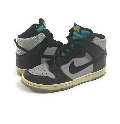 "459e17ba53c Nike Dunk High Shoes ""Washington"" Wolf Grey Black Turquoise Blue size 8"
