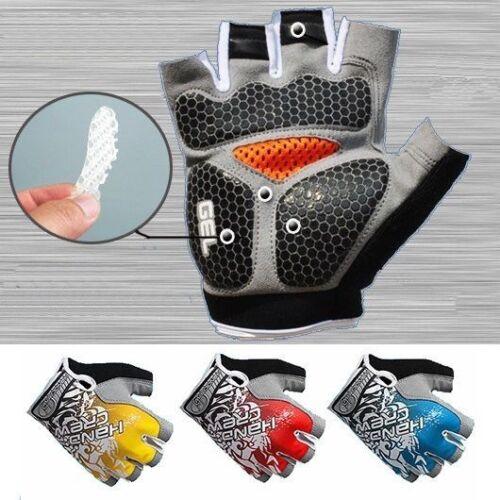 KF/_ MTB Cycling Bike Bicycle Silicone Gel Pad Gloves Shockproof Half Finger Sh