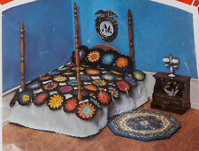 Create Your Own Kit Miniature Doll House Granny Afghan Bed Ruffle Pillow Crochet