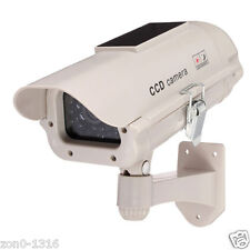 Solar Power Outdoor Dummy IR LED Light Security Surveillance CCTV Fake Camera