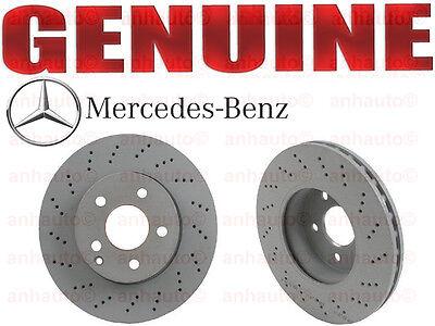 Set of 2 Genuine For Mercedes Front Brake Rotors C250 C300 w// Sport Package