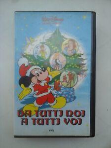 Da-Tutti-Noi-A-Tutti-Voi-Disney-Univideo-VS-4150-1986-VHS-Topolino-RARA