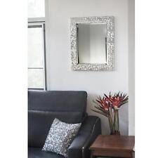 """Blue Harbor Collection 25 1/4"""" X 21 1/4"""" Silver Mosaic Beveled Wall Mirror"""