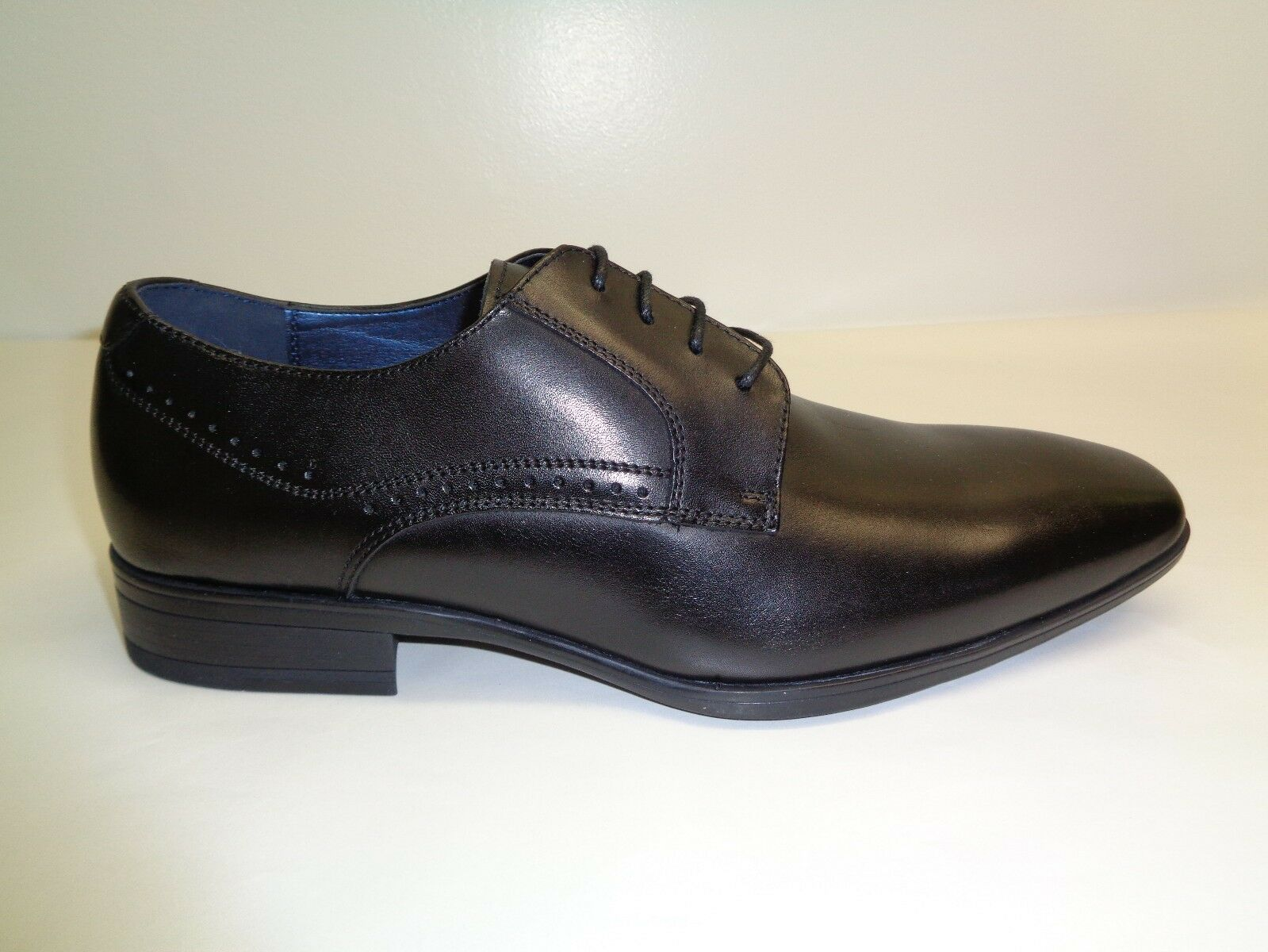 Steve Madden Size 7.5 RIVARS Black Leather Lace Up Oxfords New Mens shoes