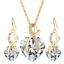 Women-Heart-Pendant-Choker-Chain-Crystal-Rhinestone-Necklace-Earring-Jewelry-Set thumbnail 32