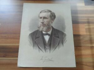 Antique-colour-print-Professor-Tyndall-Irish-Old-political-world-leaders
