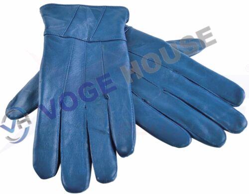 Ladies Soft Sheepskin 100/% Leather Driving Gloves Warm Waterproof Button Design