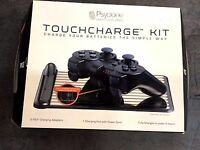 Psyclone Touchcharge Kit With 2 Ps3 Remote Batteries And Pad (wii, Xbox 360)
