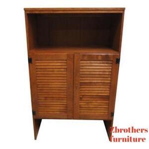 Ethan-Allen-Nutmeg-Room-Plan-Crp-Heirloom-Dresser-Book-shelf-Hutch-Top-Tv-N