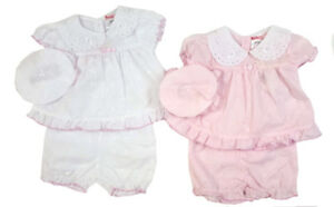 Premature Baby preemie Girl Dress /& Pants Set White Pink reborn tiny 3-5 5-8 lbs