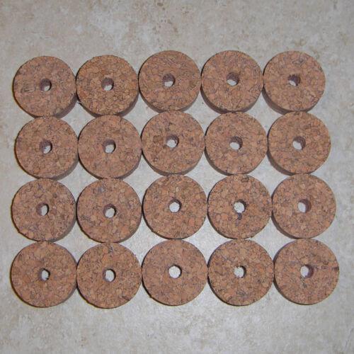 "20 SPECKLED BURL CORK RINGS 1 1//4/"" D x 1//2/"" H x 1//4/"" I.D."