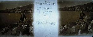Photography 27 Mars 1937 MONTREUX Swiss Edges Of Lake Switzerland