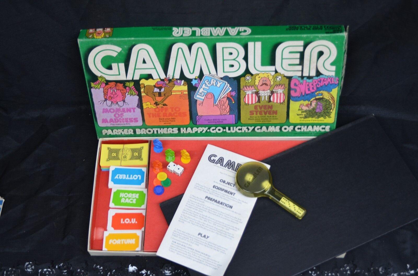 Jahrgang 1977 parker brothers spieler brettspiel komplette nr. 49 gamblig casino
