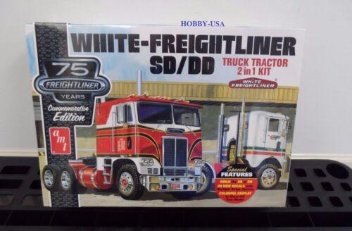 AMT 1046 1//25 White Freightliner SD//DD Tractor Cab 75th  NIB MINT  AMT1046-NEW