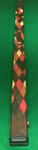 SNOOKER-POOL-1-PIECE-CUE-CASE-1-PIECE-BROWN-DIAMOND-PATCH-DESIGN-FREE-DELIVERY