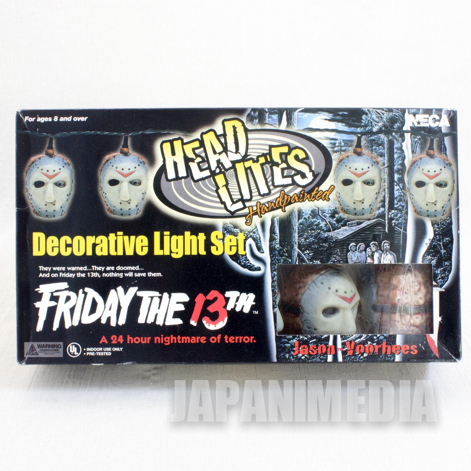 Friday the 13th Jason Voorhees Head Lites Decorative Light Set Figurine NECA