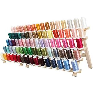 MACHINE EMBROIDERY THREAD  NEW 80 COLOR POLYESTER SET CampD