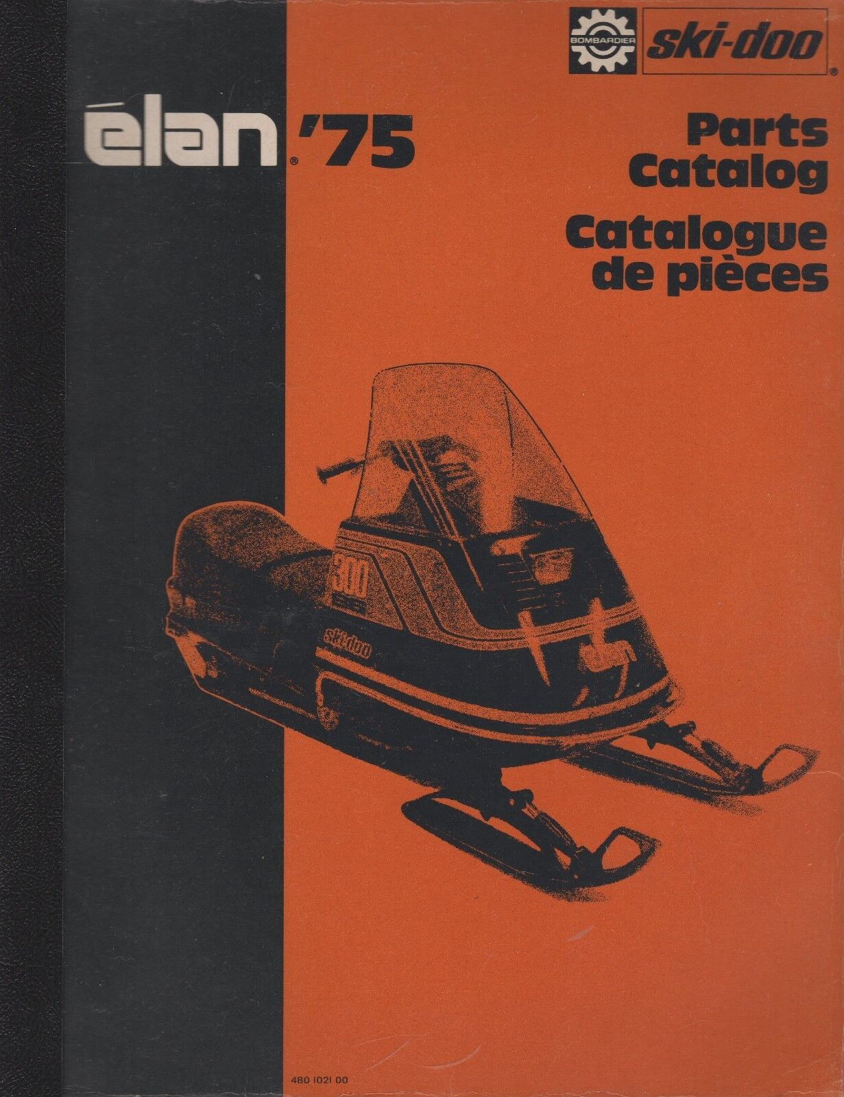 1975 SKI-DOO ELAN SNOWMOBILE PARTS MANUAL 480 1021 00 (583)