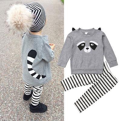 Newborn Infant Baby Girls Floral Tops T-Shirt Long Pants 3PCS Clothes Outfits US