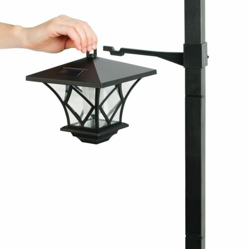 1.5M Solar Powered Lamp Post Light Outdoor Garden Path Way Landscape Fence Lamp