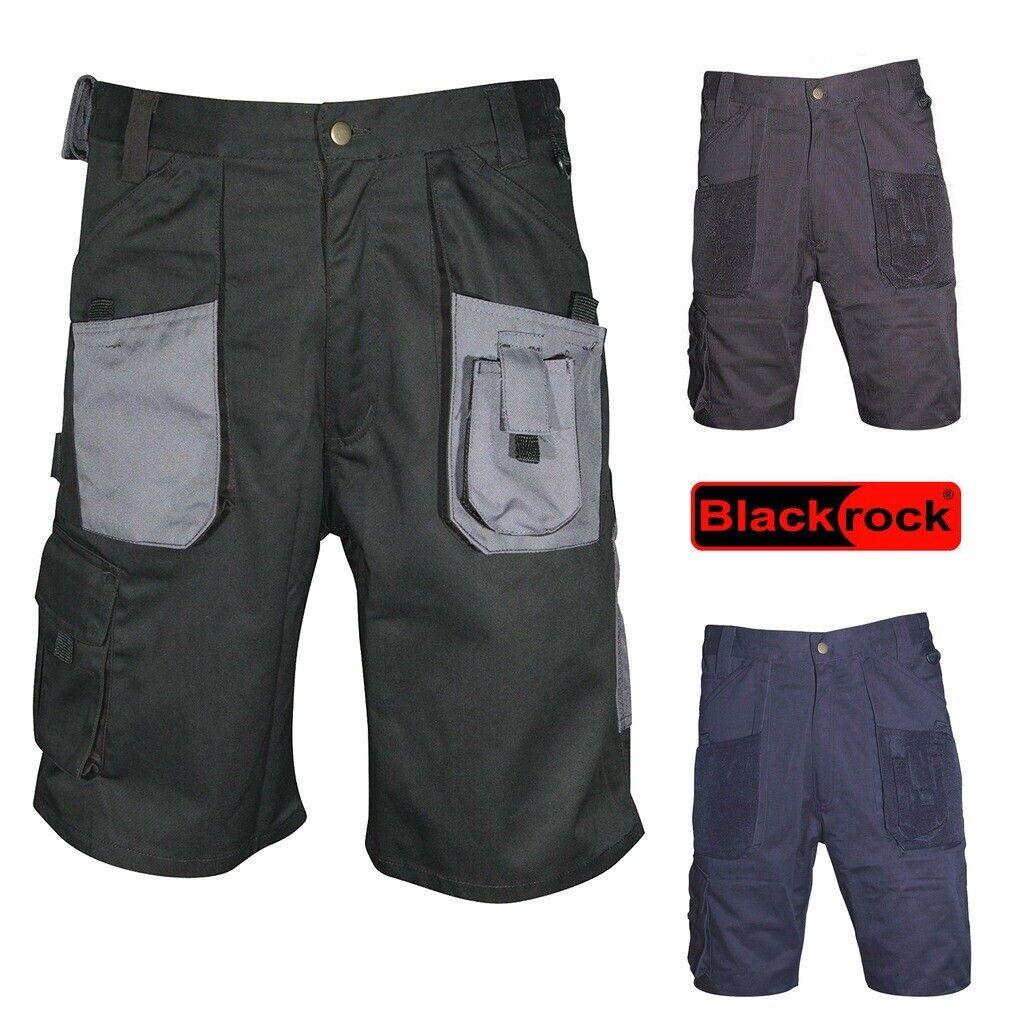 Hard Wearing Multi Pocket Combat Work Shorts Waist 30-50 Outdoor Cargo Black NEW