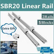 Sbr20 Linear Rail Guide 200mm 2200mm Slide Shaft Rod5x Sbr20uu Bearing Block