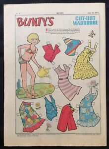 1977 Gb Bunty Hebdomadaire Bd W / Paper Dolls, #1020 La Qualité D'Abord