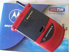 Motorola Startac Star tac 130  GSM NUOVO ROSSO  ORIGINALE RIGENERATO