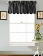 1PC Faux Silk Straight SMALL Window Valance Topper Waterfall rod pocket S18 NEW
