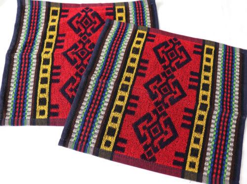 2x Gant de toilette Mexique Éponge Bain foulards bursali Ethno Frottier Rouge Navy