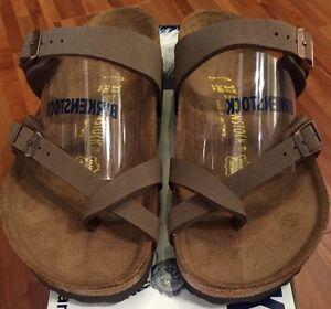 7d32114e94c1 Birkenstock Mayari 071061 Size 38 L7~7.5 R Birkibuc Mocha Sandals