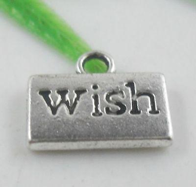 """20pcs Tibetan Silver """"Wish"""" Charms Pendants 13x11mm   (Lead-free)"""
