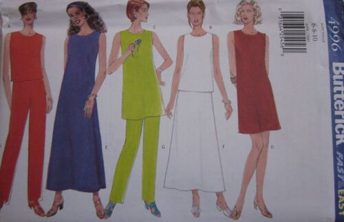 4996 Vintage Butterick SEWING Pattern Misses Dress Tunic Skirt SEW UNCUT OOP FF