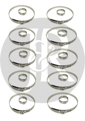 RENAULT 19,20,21,25 10X DRIVE SHAFT CV JOINT BOOT KIT STAINLESS STEEL CLAMP CLIP