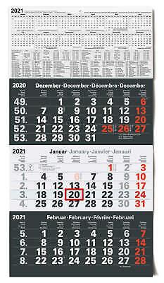 3-Monatskalender 2021  großer Wandkalender Bürokalender Monatskalender Kalender