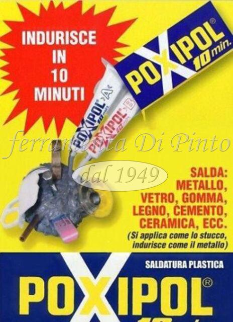 COLLA ADESIVO POXIPOL BICOMPONENTE UNIVERSALE SALDATUTTO ACCIAIO SALDA RAPIDO 70