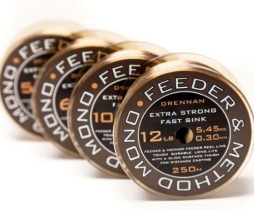 Drennan Feeder /& Method Monofilament Fishing Line 250metre 6lb