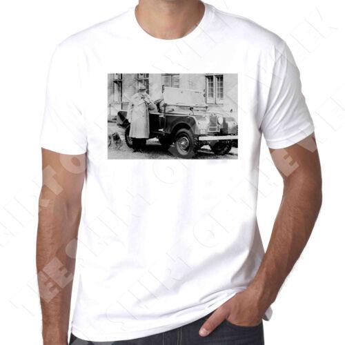 Winston Churchill série 1 Landrover la seconde guerre mondiale pour homme 100/% coton t-shirt 100/% coton