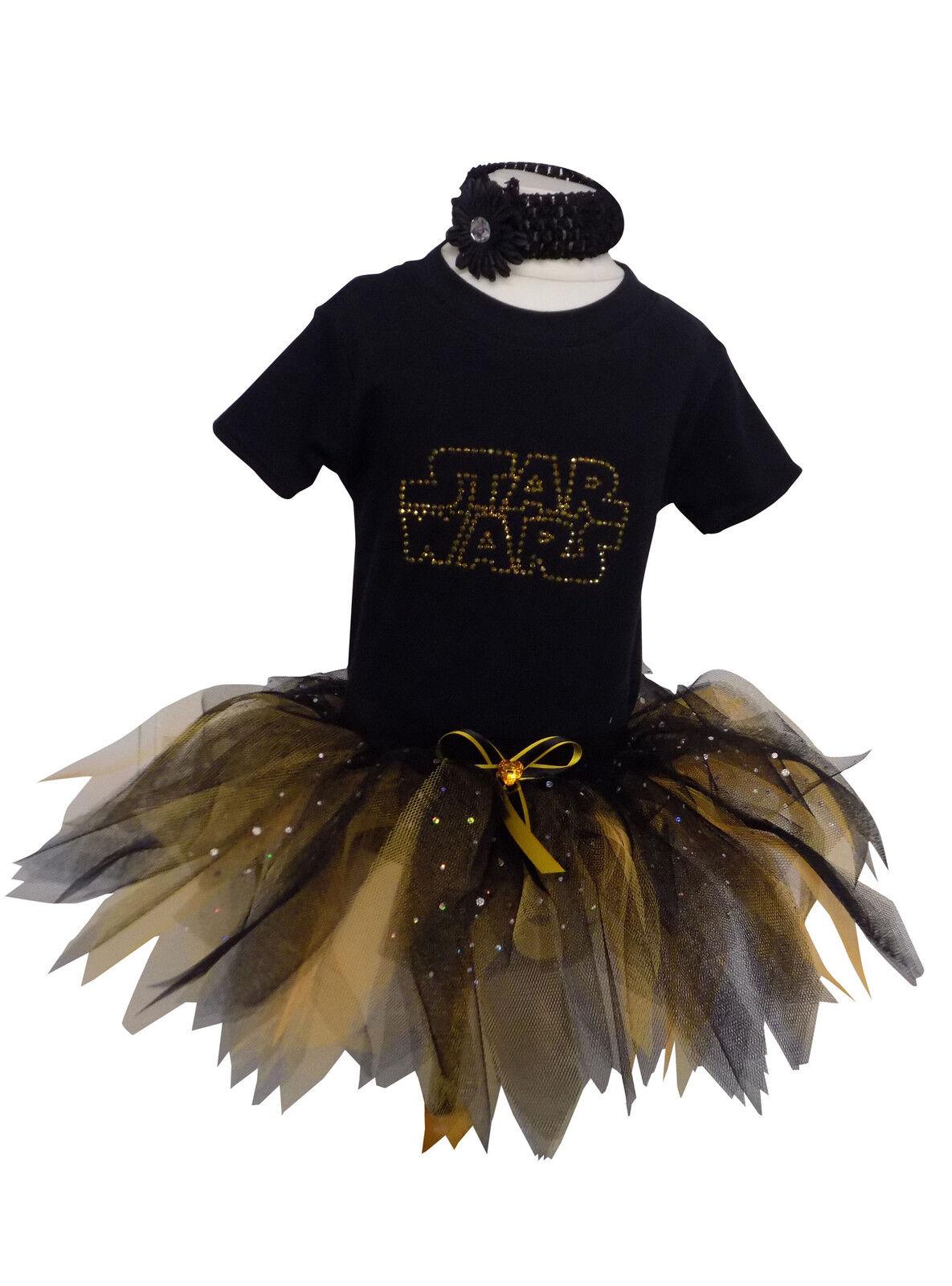 Star Wars Sci-Fi Baby Grow Tutu Set Girl Toddler 80s Fancy Dress Party Halloween