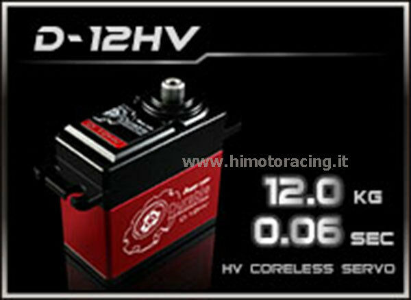 SERVO COMANDO DIGITALE POWER HD 12 12 12 Kg HIGH VOLTAGE INGRANAGGI METALLO D-12HV 732483