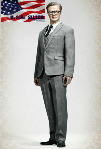 "1//6 Men Business Suit Set Western Style C For 12/""Hot Toys PHICEN Male Figure USA"