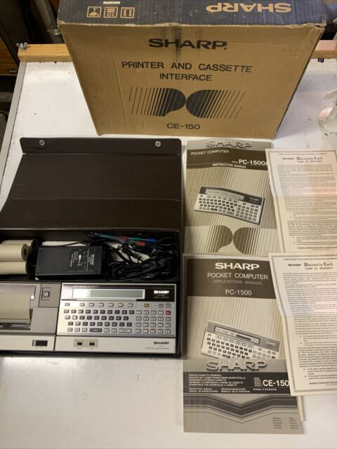 VINTAGE RETRO SHARP CE-150 PC-1500 POCKET COMPUTER DESK OFFICE INTERFACE PRINTER