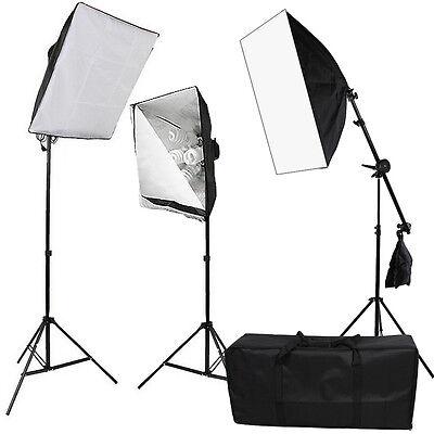 2875W Photo Studio Continuous Lighting Softbox Soft Box Boom Arm Light Stand Kit