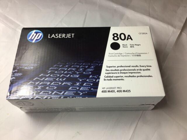 New Genuine OEM HP 80A Black Toner Cartridge CF280A Excellent Box For Resale