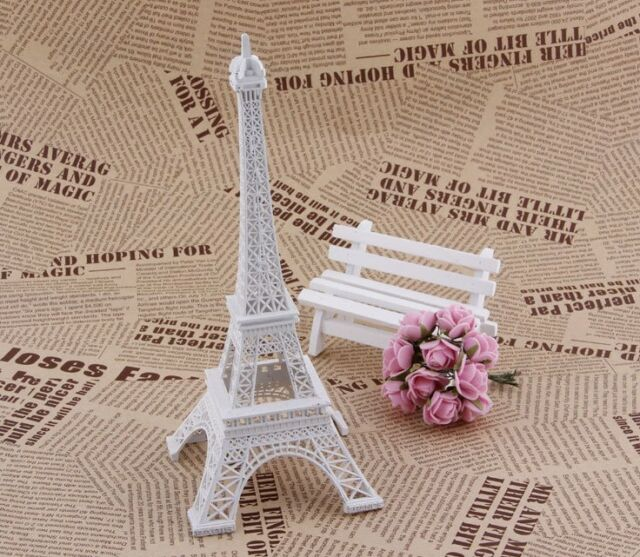 New Eiffel Tower 13cm high Statue Souvenir from Online Gift Store white