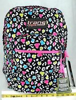 Jansport Trans School Student Backpack Supermax Black Floral Leopard W/ Tags